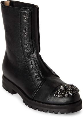 Jimmy Choo Black Hatcher Embellished Combat Boots