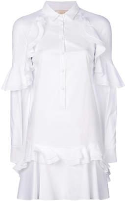 Antonio Berardi ruffle trim shirt dress