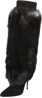 Tom Ford Shearling Fur Knee Boot