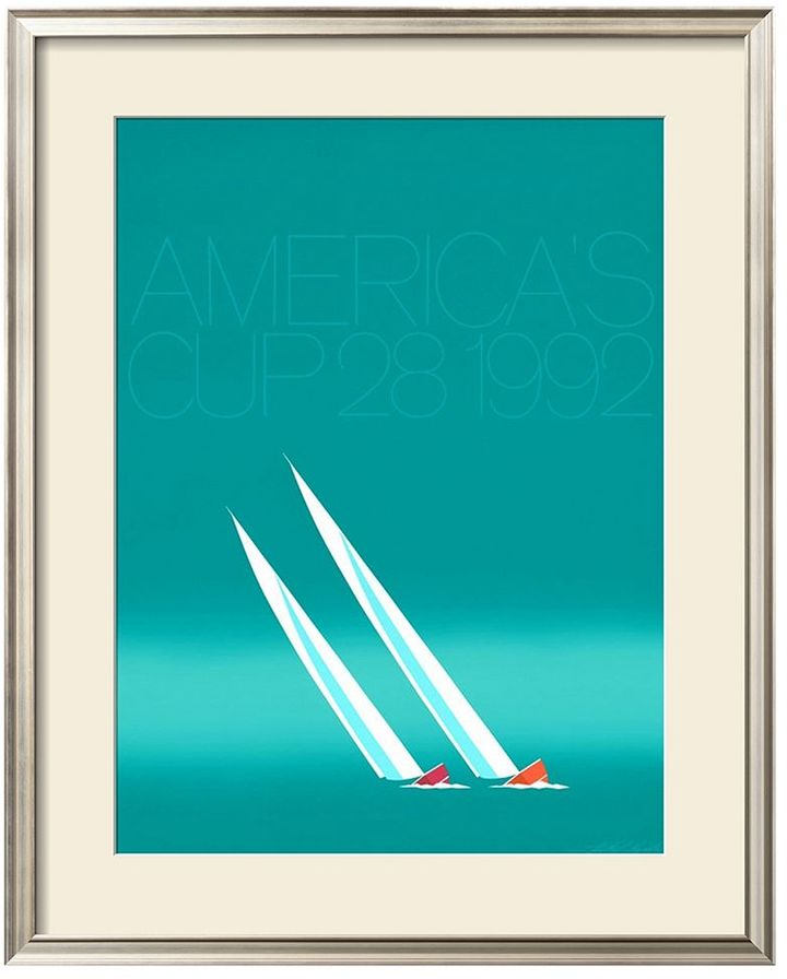 Art.com ''Duel ('92-Blue America's Cup)'' Framed Wall Art