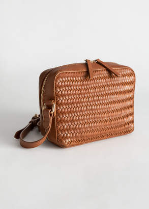 And other stories Basket Weave Crossbody Bag