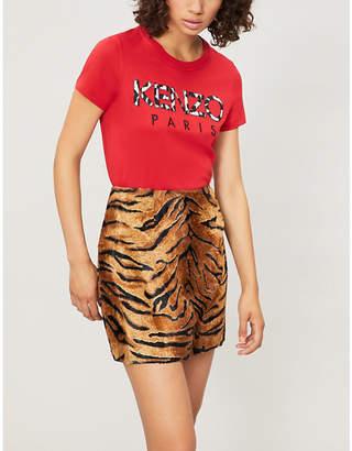 Kenzo Leopard-print cotton-jersey T-shirt
