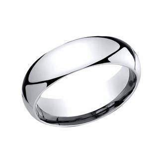 MODERN BRIDE Mens Platinum 6mm Comfort-Fit Wedding Band