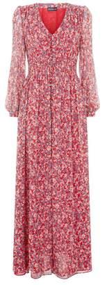 Nicholas Red Blossom Silk Maxi Dress