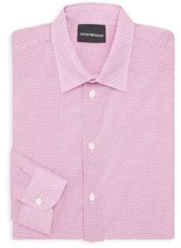Emporio Armani Printed Cotton Dress Shirt