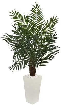 "Brayden Studio 5.5"" Areca Artificial Palm Plant in Tower Planter"
