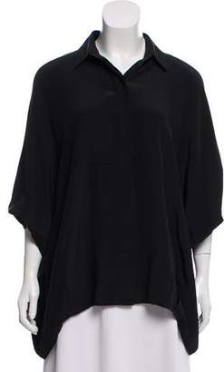 Hatch Silk Short-Sleeve Tunic