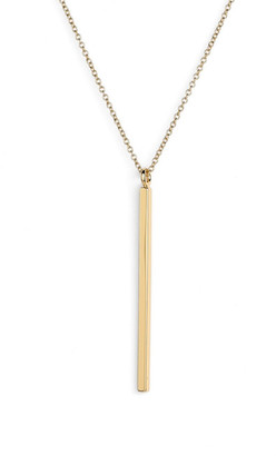 Rebecca Minkoff Long Bar Pendant Necklace