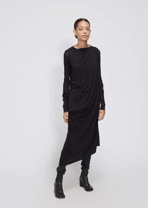 Rick Owens Lilies Long Sleeve Asymmetric Dress