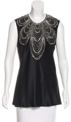 Naeem Khan Embellished Silk
