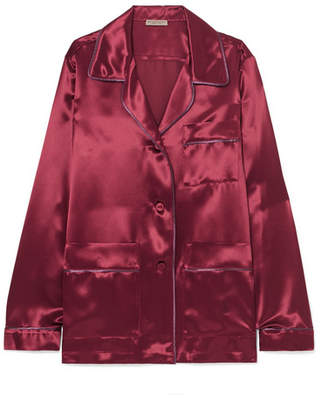 Bottega Veneta Satin Shirt - Crimson