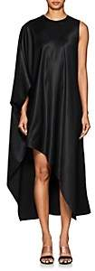 Narciso Rodriguez Women's Draped Satin Asymmetric Dress-Black