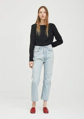 Acne Studios Log Straight Jeans 30 Light Blue