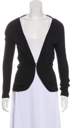 Balenciaga Collarless Long Sleeve Jacket Black Collarless Long Sleeve Jacket