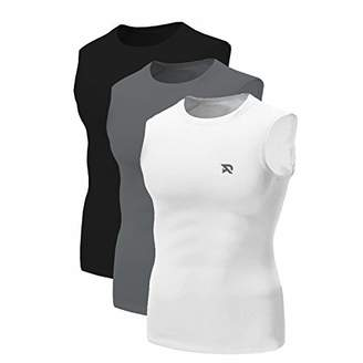 RADHYPE Men Polyester Classic Fit Sleeveless Athletic Tshirt Pack Training Tank Top Set of 3 Colors Size L
