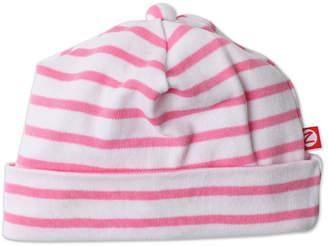 Zutano Girls' Hot Pink Breton Stripe Hat