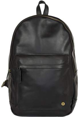Mahi Leather Leather Classic Backpack Rucksack In Black Leather