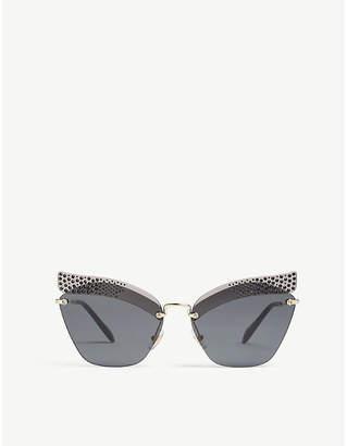 Miu Miu Mu56Ts irregular-frame sunglasses