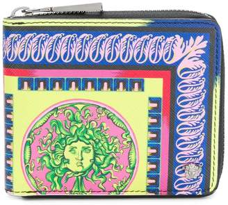 Versace baroque zipped wallet