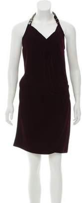 Hermà ̈s Velvet Open Back Dress Plum Hermà ̈s Velvet Open Back Dress