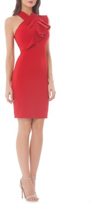 Women's Carmen Marc Valvo Infusion Stretch Sheath Dress $248 thestylecure.com