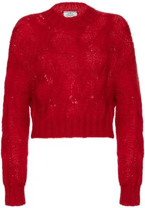 Prada Cropped mohair sweater