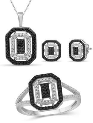 Black Diamond Jewelersclub JewelersClub Accent Sterling Silver 3-Piece Jewelry Set