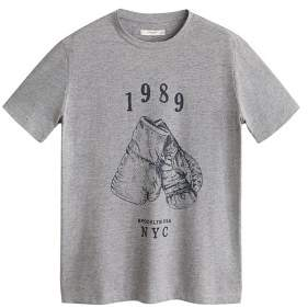 Print flecked t-shirt