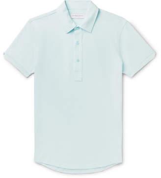 Orlebar Brown Sebastian Slim-fit Cotton-pique Polo Shirt - Blue