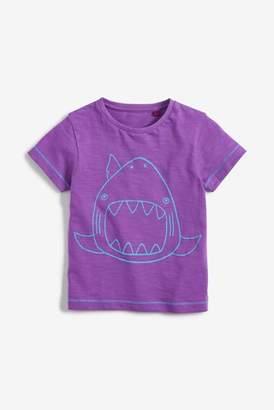 Next Boys Purple Shark T-Shirt (3mths-7yrs)