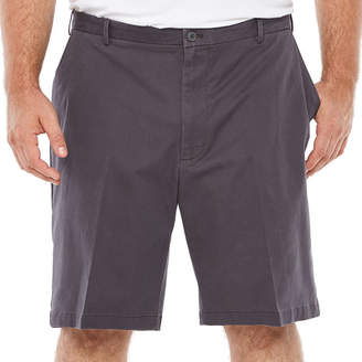 Izod Saltwater Stretch Chino Short Mens Stretch Chino Shorts-Big and Tall