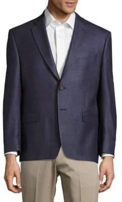 Lauren Ralph Lauren Houndstooth-Print Silk & Wool-Blend Jacket