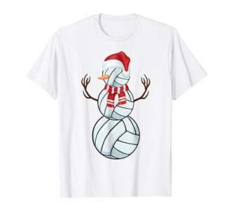 Christmas Volleyball Snowman T-Shirt for Vball Players