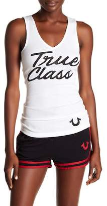 True Religion V-Neck Rib Tank Top