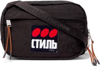 Heron Preston Logo-Appliqued Shell Camera Bag - Men - Black