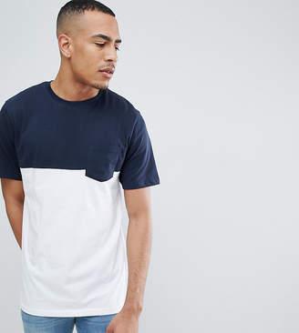 Jacamo Color Block T-Shirt With Pocket