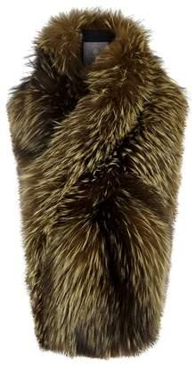 Arabella LILLY e VIOLETTA LILLY E VIOLETTA Olive Fox Fur Scarf