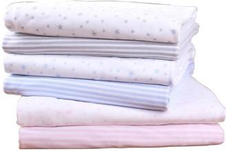 Clair De Lune Printed Pram/Crib Sheets - Stars/Stripes