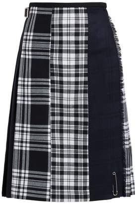 Le Kilt - Menzie Tartan Wool Kilt Skirt - Womens - Black Multi