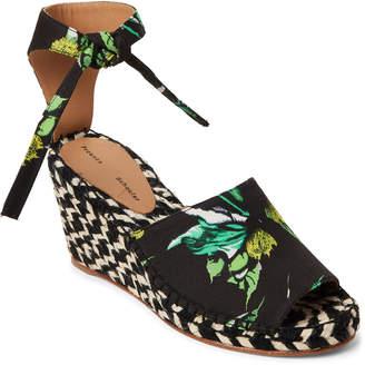 Proenza Schouler Black Ankle-Tie Wedge Espadrilles