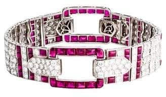 Kwiat Platinum Ruby & Diamond Buckle Bracelet