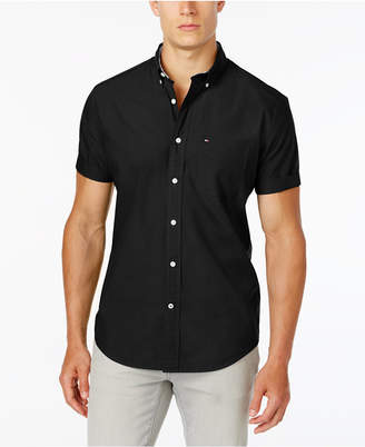 Tommy Hilfiger Men Maxwell Short-Sleeve Button-Down Classic Fit Shirt