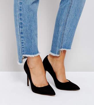 Asos DESIGN Wide Fit Paris pointed high heels
