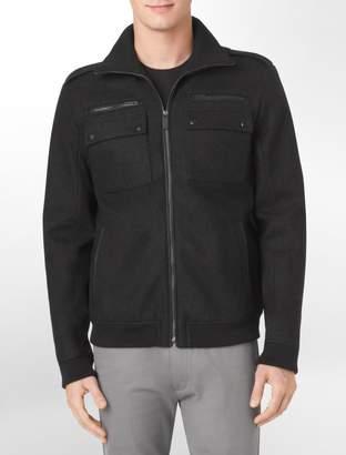 Calvin Klein 4-pocket zip front jacket