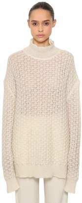 Jil Sander OVER MOHAIR & SILK SHEER KNIT SWEATER