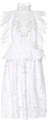 Nevenka Point Of Pride Apron Lace-Embroidered Cotton Dress