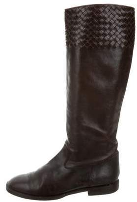 Bottega Veneta Intrecciato Leather Boots