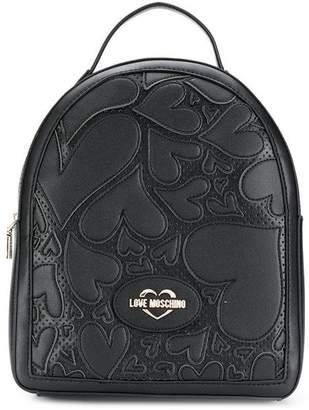 Love Moschino heart appliqué backpack
