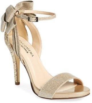 Women's Menbur 'Celosia' Bow Ankle Strap Glitter Sandal $117 thestylecure.com