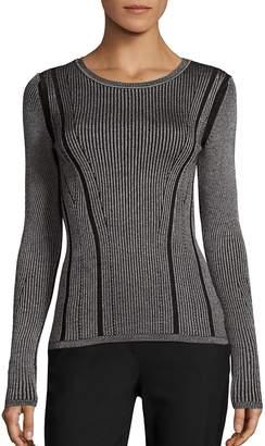 Diane von Furstenberg Women's Rib Knit Merino Wool & Silk Blend Sweater